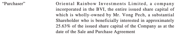 Oriental Rainbow Investments Ltd